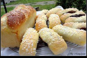 Bûchettes briochées à l'ovomaltine crunchy
