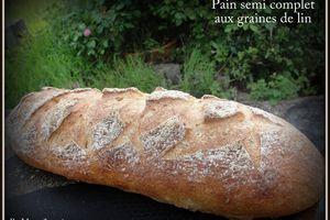 Pain semi complet aux graines de lin