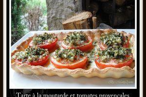 Tarte à la moutarde et tomates provençales