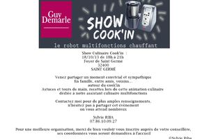 Show culinaire cook'in dans le Gers