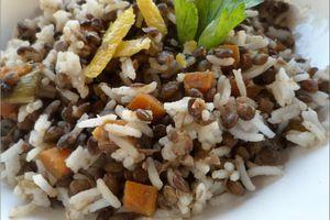 Salade de riz basmati et lentilles