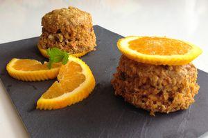 Muffins carotte orange