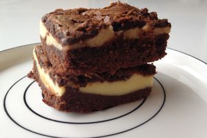 Brownie façon cheesecake