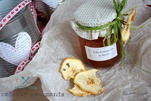 Gelée de pommes bio au basilic