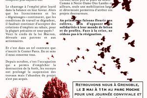 A Grenoble, journée de mobilisation contre Center parcs