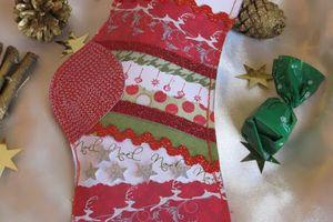 """Tutoriel """"chaussette de Noël """""""
