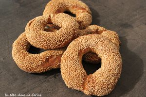 Pain Simit dit Bretzel Turque