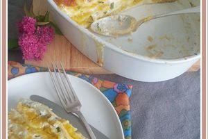 Lasagnes à la courge butternut et crème de ciboulette