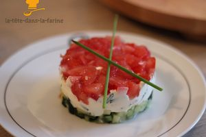 Tartare concombre/tomate/fromage frais