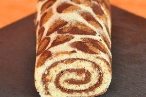 Roulé léopard, leopard roll cake