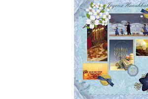 Carte à imprimer ~Hanukkah~