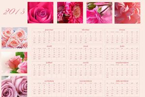 Calendrier annuel 2013 ~roses~