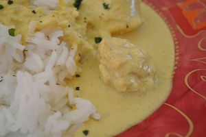 Noix de Saint jacques au curry