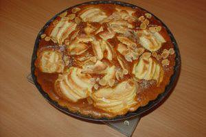 Gâteau pommes amandine
