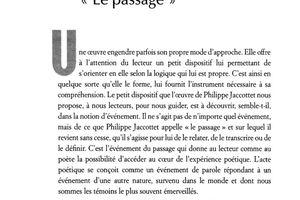 Lien/notes avec/sur un article de J-M Sourdillon :  Philippe Jaccottet et l'écriture de l'événement