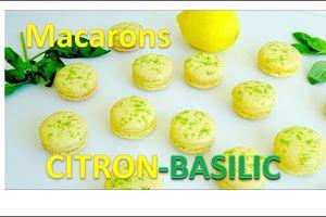 mes macarons citron basilic