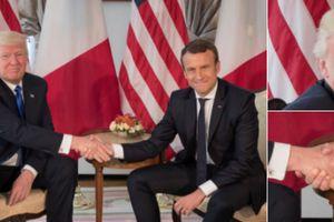 "La ""féroce"" poignée de main de Macron et Trump a emballé la presse américaine"