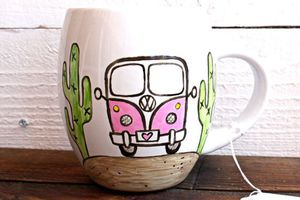 Pink VW Bus 19oz. Ex