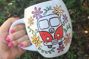 Hand Painted VW Bus