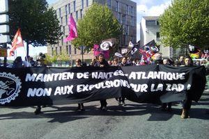 A Nantes le 1er mai, un beau cortège anti-aéroport