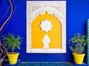 Le jardin Majorelle est le jardin botanique touristique de Marrakech au Maroc du peintre français Jacques Majorelle créé en 1931. Les jardins sont la propriété de Yves Saint-Laurent et Pierre Bergé depuis 1980. Crédits photos©Philippe Hugonna