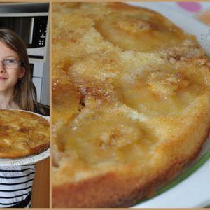 Gâteau aux pommes renversé de Léane