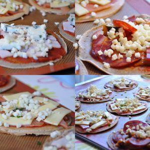 Galettes de sarrasin comme des mini pizzas