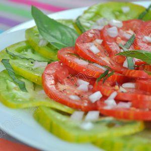 Duo de tomates en carpaccio