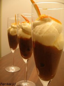 MOUSSE DE MASCARPONE A L'ORANGE ET AU CAFE