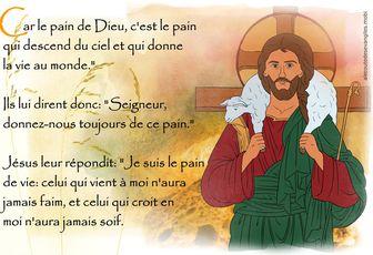 18° dimanche du Temps ordinaire B (Jean 6, 24-35) (DiMail 82)