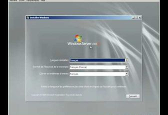 Installation de Windows Server 2008 R2 (video)