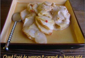 Chaud-froid de pommes au four & glace caramel au beurre salé
