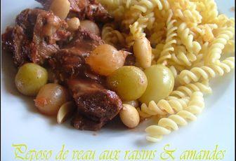 Peposo de veau aux raisins & aux amandes