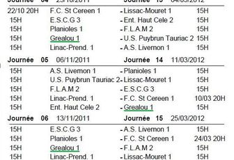 Calendrier Championnat 2011/2012 !!