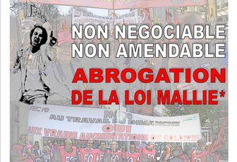 ABROGATION DE LA LOI MALLIE !