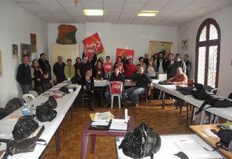 Réunion de la CSD à Marsillargues en soutien aux municipaux en lutte