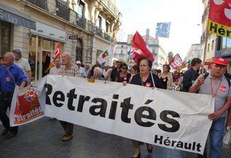 Mobilisation réussie des retraités le 6 octobre 2011 à Montpellier et appel à manifester à nouveau le 11 octobre avec les salariés !