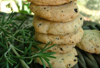 Cookies aux olives noires & romarin