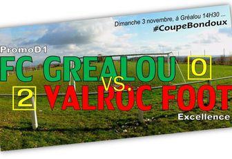 """Coupe BONDOUX > 3ème tour ...""""Belle défaite"""""""