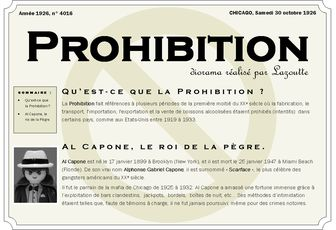 "diorama ""Prohibition"""