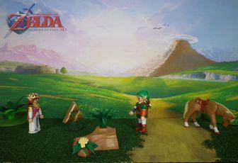 diorama Zelda