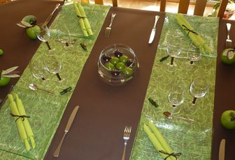 DECORATION DE TABLE CHOCOLAT / ANIS