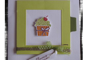 "Carte ""cup cake"" stampin'up"