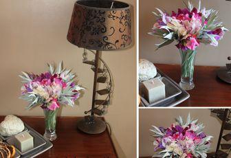 Bouquet pois de senteurs et armoise