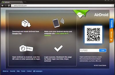transfer files between Android and PC with AirDroid
