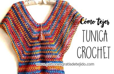 Tunique facile au crochet (tutoriel gratuit - DIY)