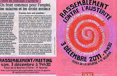 Départ collectif de Meudon Samedi 3 décembre pour le rassemblement du Front de Gauche