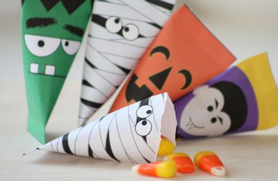 Paquets berlingots de bonbons pour halloween à imprimer gratuit