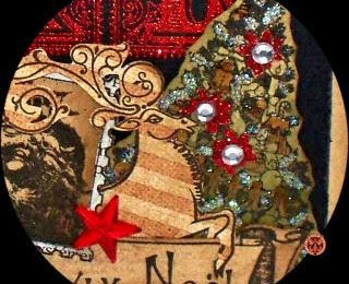 FT - CARTE NOEL - Stamp et composition
