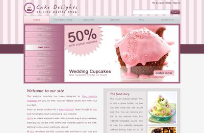 Pink Cake Free PSD CSS Website Template